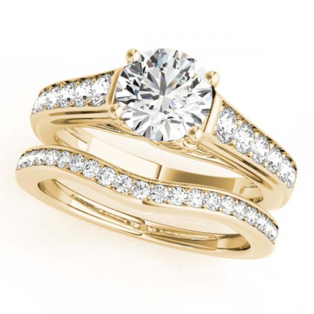 1.20 ctw VS/SI Diamond 2pc Wedding Set 14K Yellow Gold - REF-119V4Y - SKU:31624