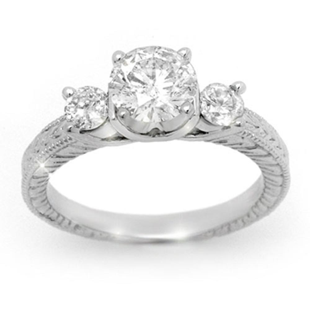 1.50 ctw VS/SI Diamond Ring 14K White Gold - REF-393W9H - SKU:13431