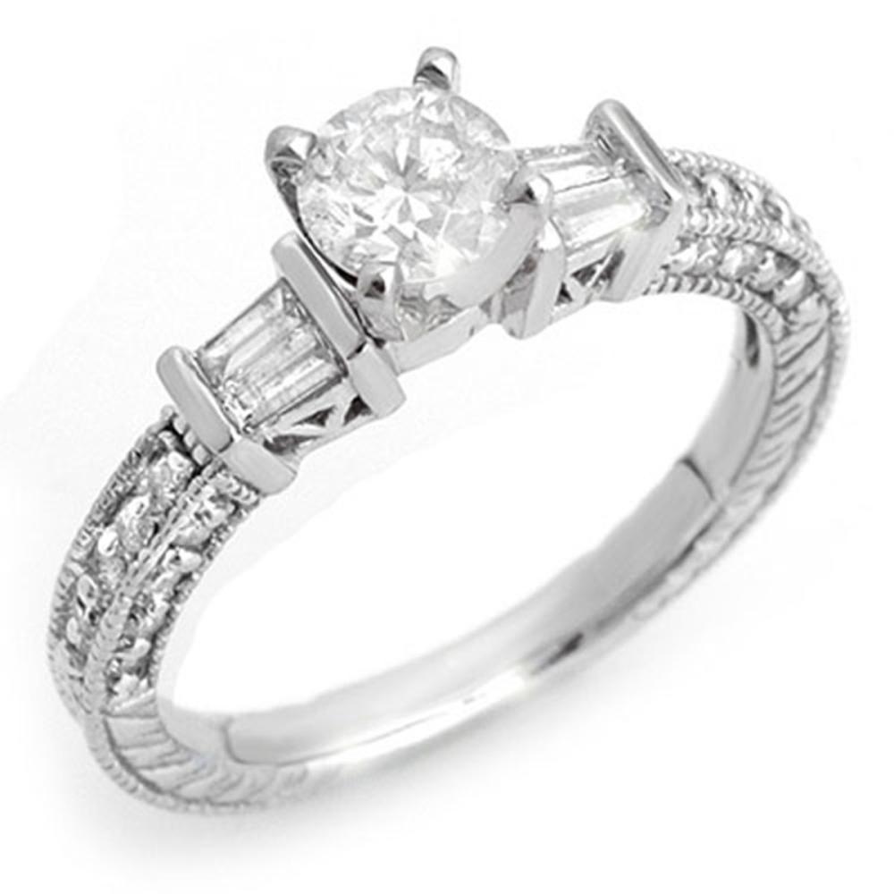 1.08 ctw VS/SI Diamond Ring 14K White Gold - REF-117M3F - SKU:10356