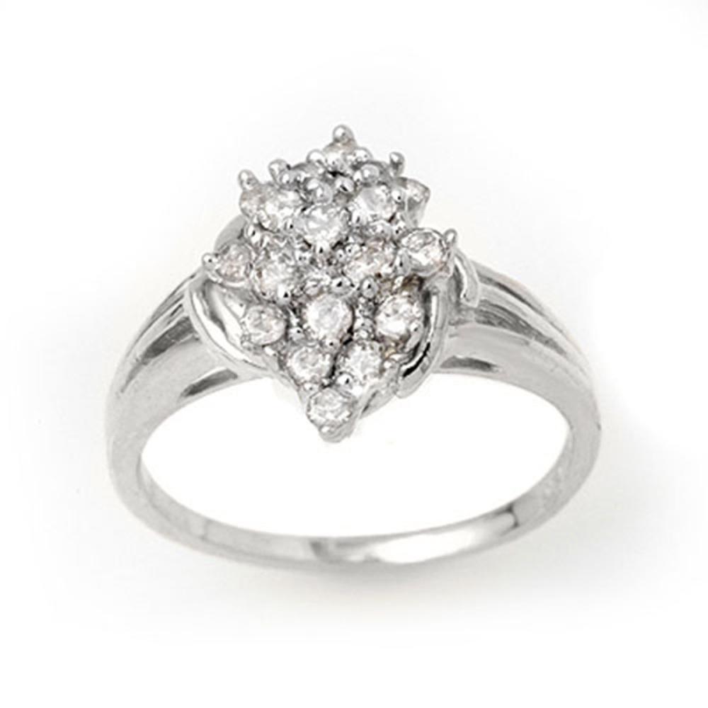 0.25 ctw VS/SI Diamond Ring 18K White Gold - REF-41N6A - SKU:14354
