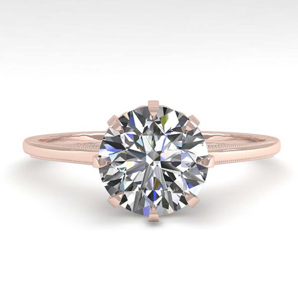 1.51 ctw VS/SI Diamond Ring 18K Rose Gold - REF-567X2R - SKU:35759