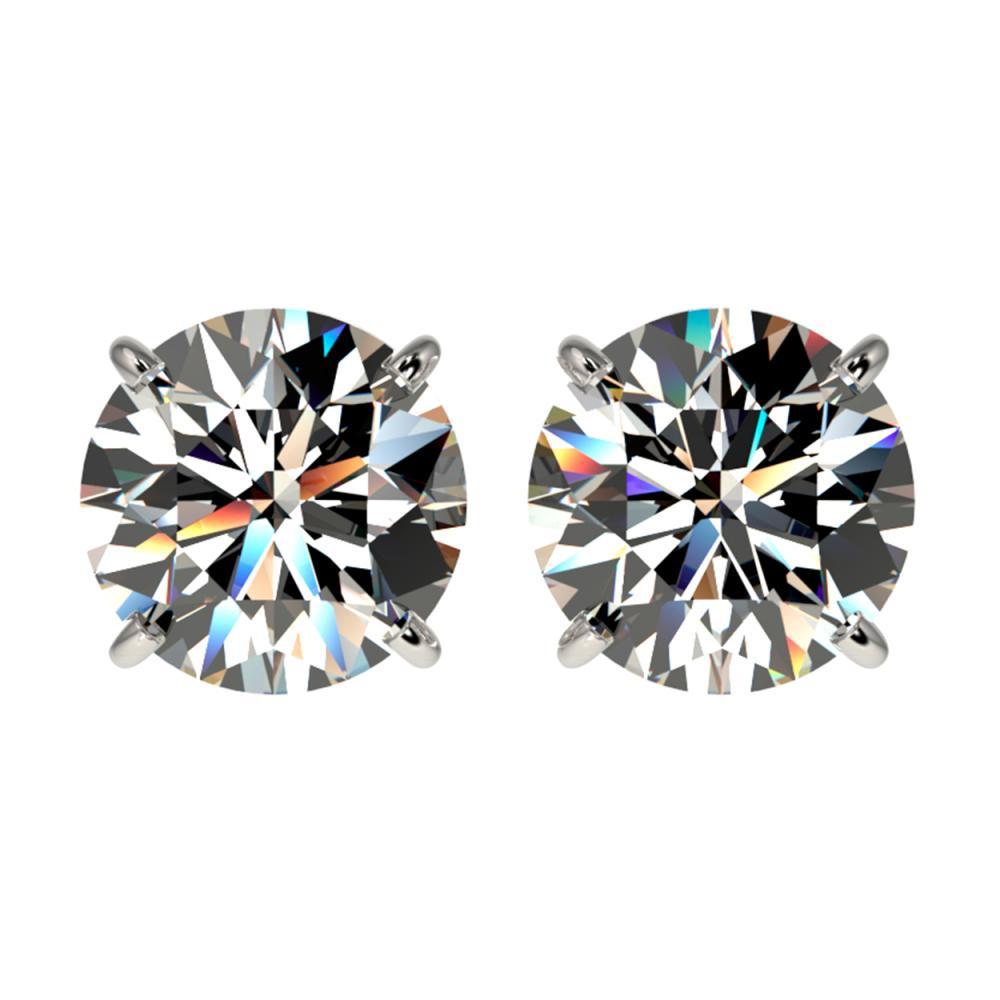 2.50 ctw H-SI/I Diamond Stud Earrings 10K White Gold - REF-435F2N - SKU:33100
