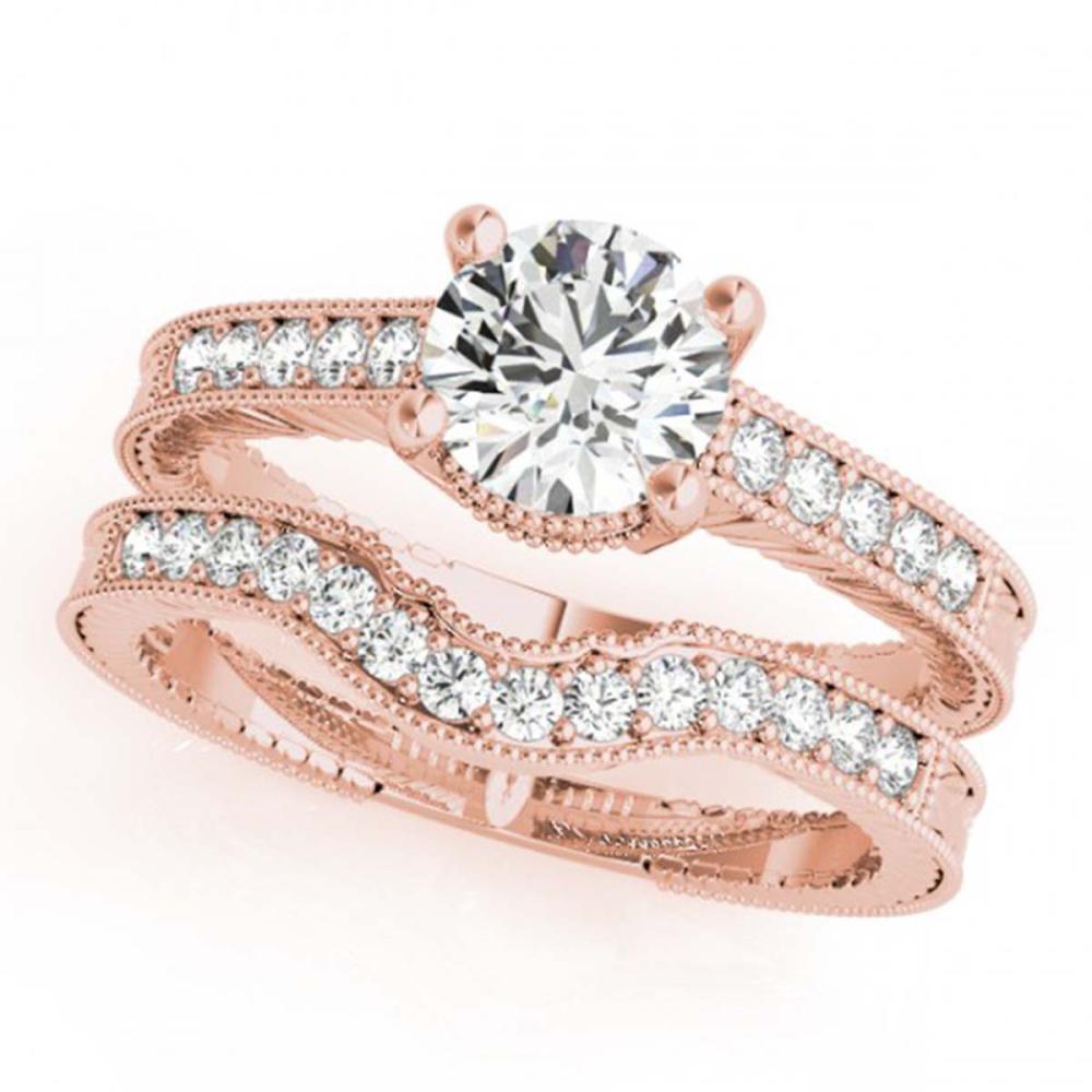 1.47 ctw VS/SI Diamond 2pc Wedding Set 14K Rose Gold - REF-294N2A - SKU:31539