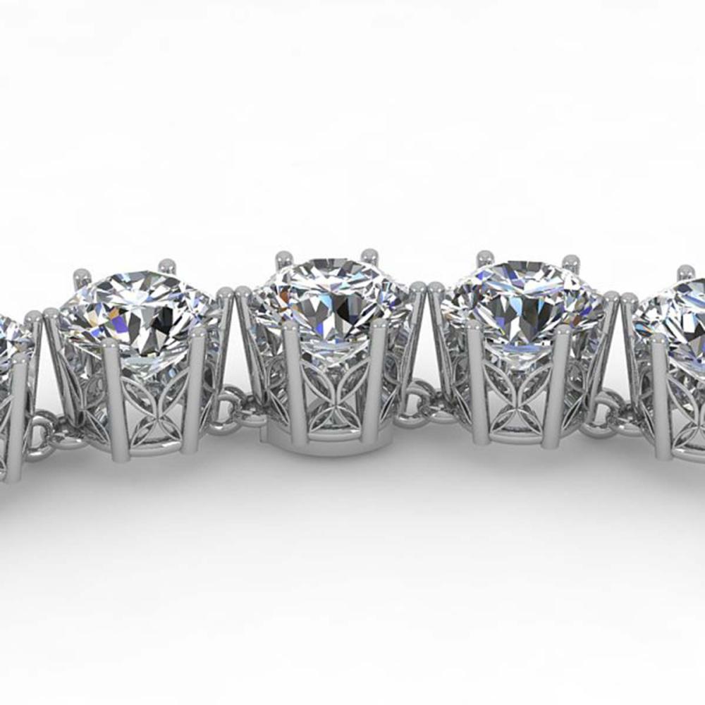 29 ctw SI Diamond Necklace 18K White Gold - REF-4680X2R - SKU:35922