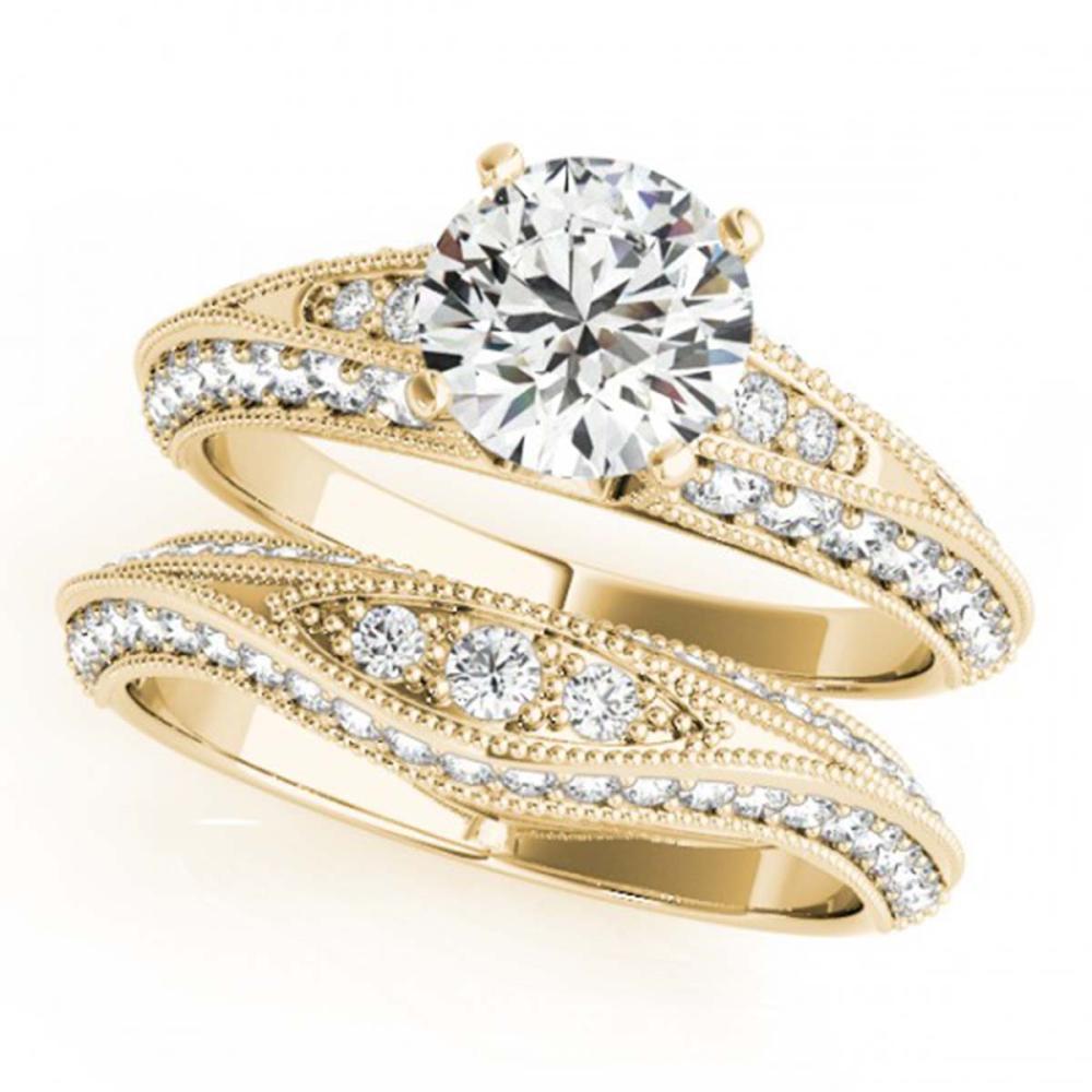 1.76 ctw VS/SI Diamond 2pc Wedding Set 14K Yellow Gold - REF-178A3V - SKU:31447