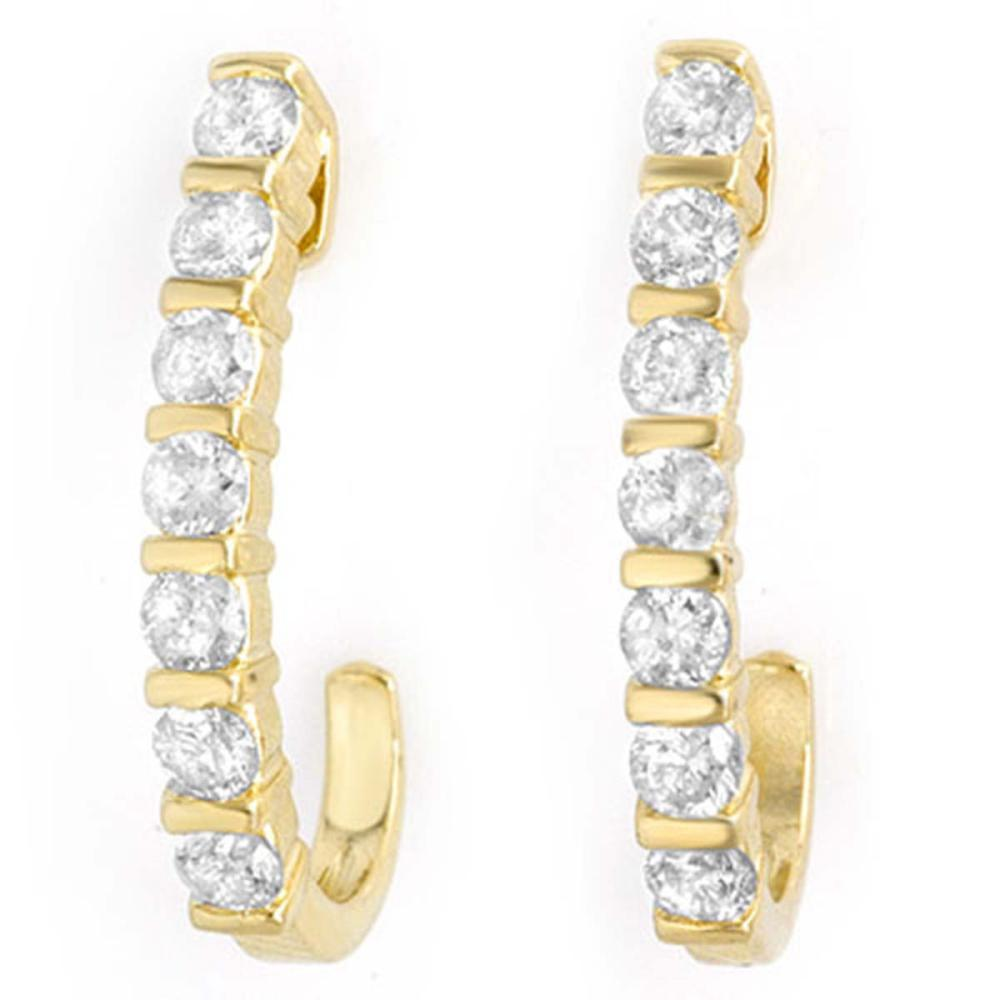 0.75 ctw VS/SI Diamond Earrings 14K Yellow Gold - REF-66X7R - SKU:13998