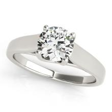 1.5 CTW Certified VS/SI Diamond Solitaire Ring 18K White Gold - REF-584W2H - 28155