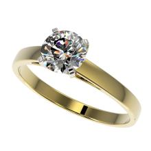 0.99 CTW Certified H-SI/I Quality Diamond Solitaire Engagement Ring Gold - REF-140W2H - 36500