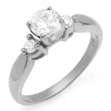 0.75 CTW Certified VS/SI Diamond Solitaire Ring 14K White Gold - REF-119M5F - 11630