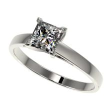 1 CTW Certified VS/SI Quality Princess Diamond Engagement Ring Gold - REF-270M3F - 32994