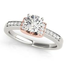 1.11 CTW Certified VS/SI Diamond Solitaire Ring 18K Two Tone Gold - REF-367N3A - 27448