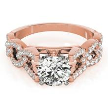 1.5 CTW Certified VS/SI Diamond Solitaire Ring 18K Rose Gold - REF-397Y8X - 27838