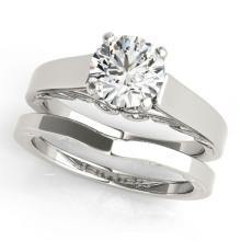 1.25 CTW Certified VS/SI Diamond Solitaire 2Pc Wedding Set 14K Gold - REF-485R5K - 31862