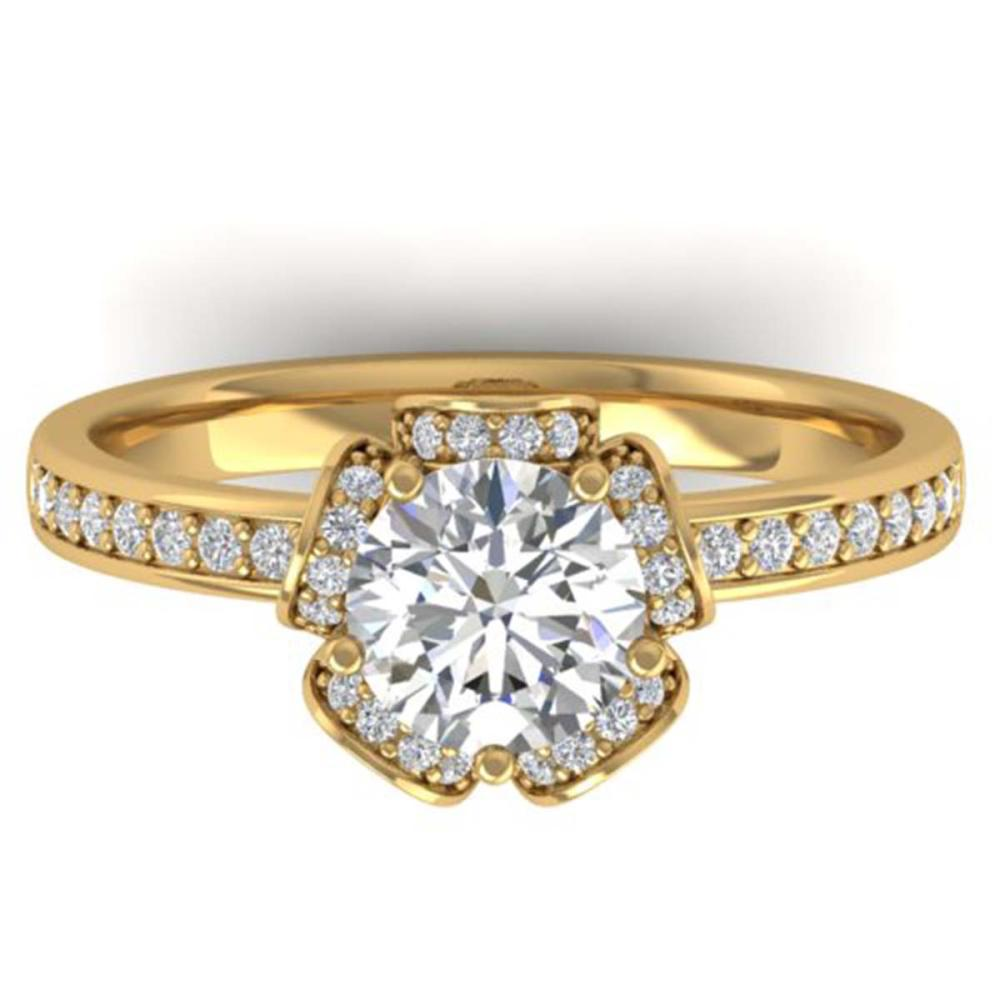 1.75 ctw VS/SI Diamond Art Deco Ring 14K Yellow Gold - REF-341N5A - SKU:30275