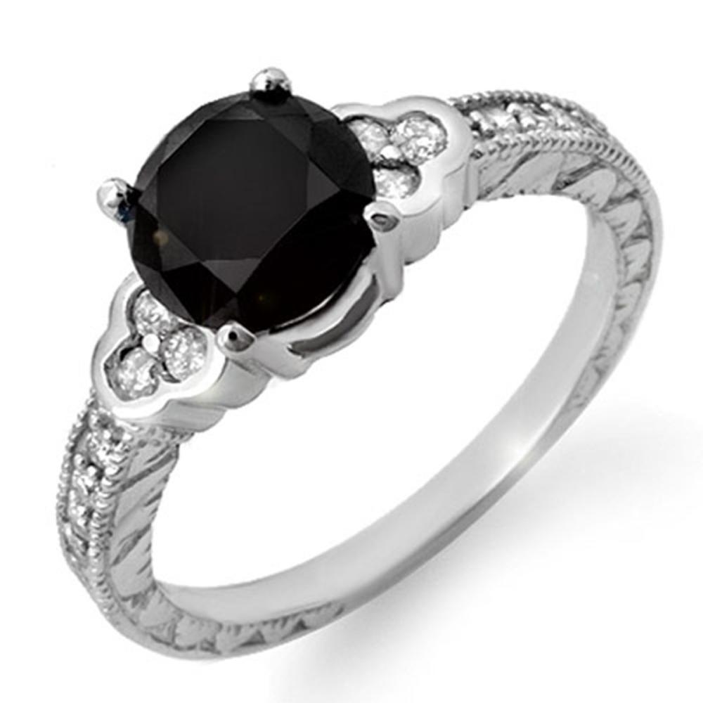 2.52 ctw VS Black & White Diamond Ring 18K White Gold - REF-104A5V - SKU:11821