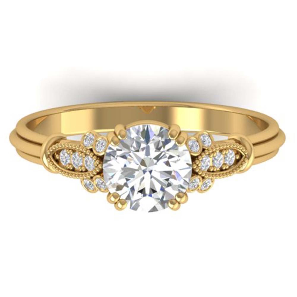 1.15 ctw VS/SI Diamond Art Deco Ring 14K Yellow Gold - REF-298Y8X - SKU:30551