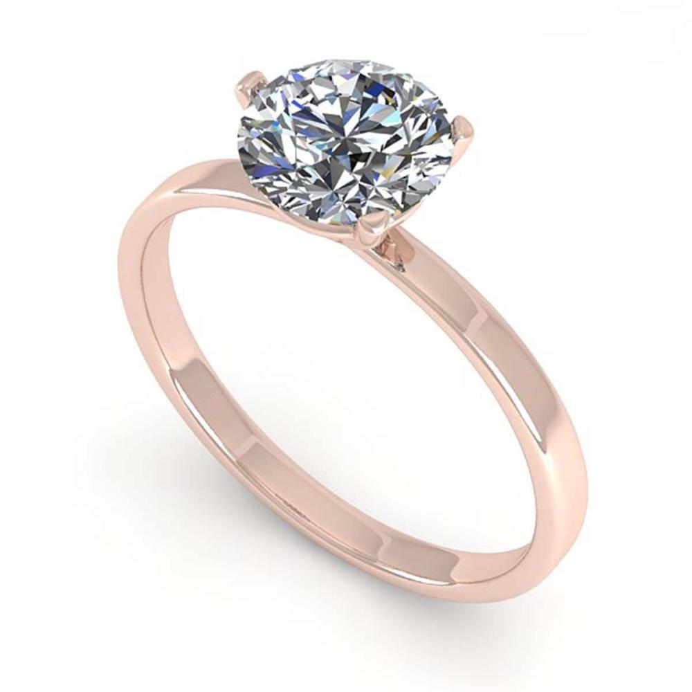 1.0 ctw VS/SI Diamond Ring 14K Rose Gold - REF-315F2N - SKU:38325