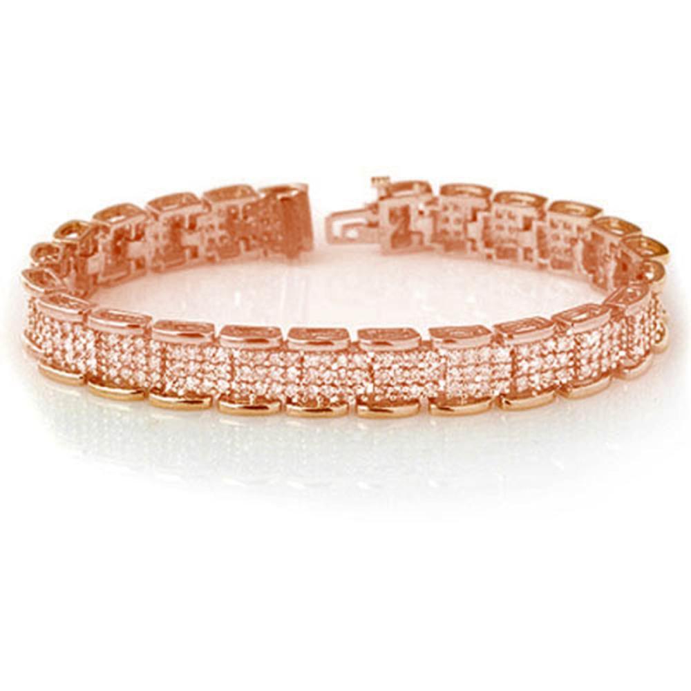 7.0 ctw VS/SI Diamond Bracelet 14K Rose Gold - REF-420K7W - SKU:14079