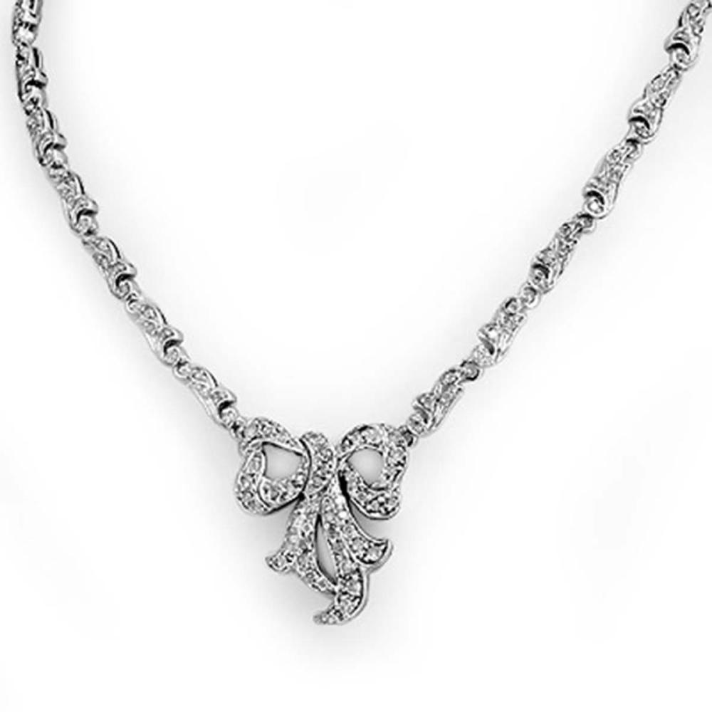 2.50 ctw VS/SI Diamond Necklace 14K White Gold - REF-276H2M - SKU:14350