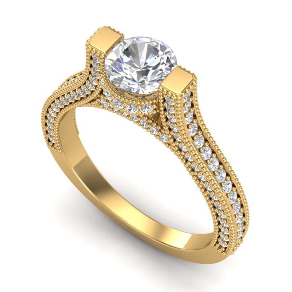 2 ctw VS/SI Diamond Ring 18K Yellow Gold - REF-290Y9X - SKU:36949