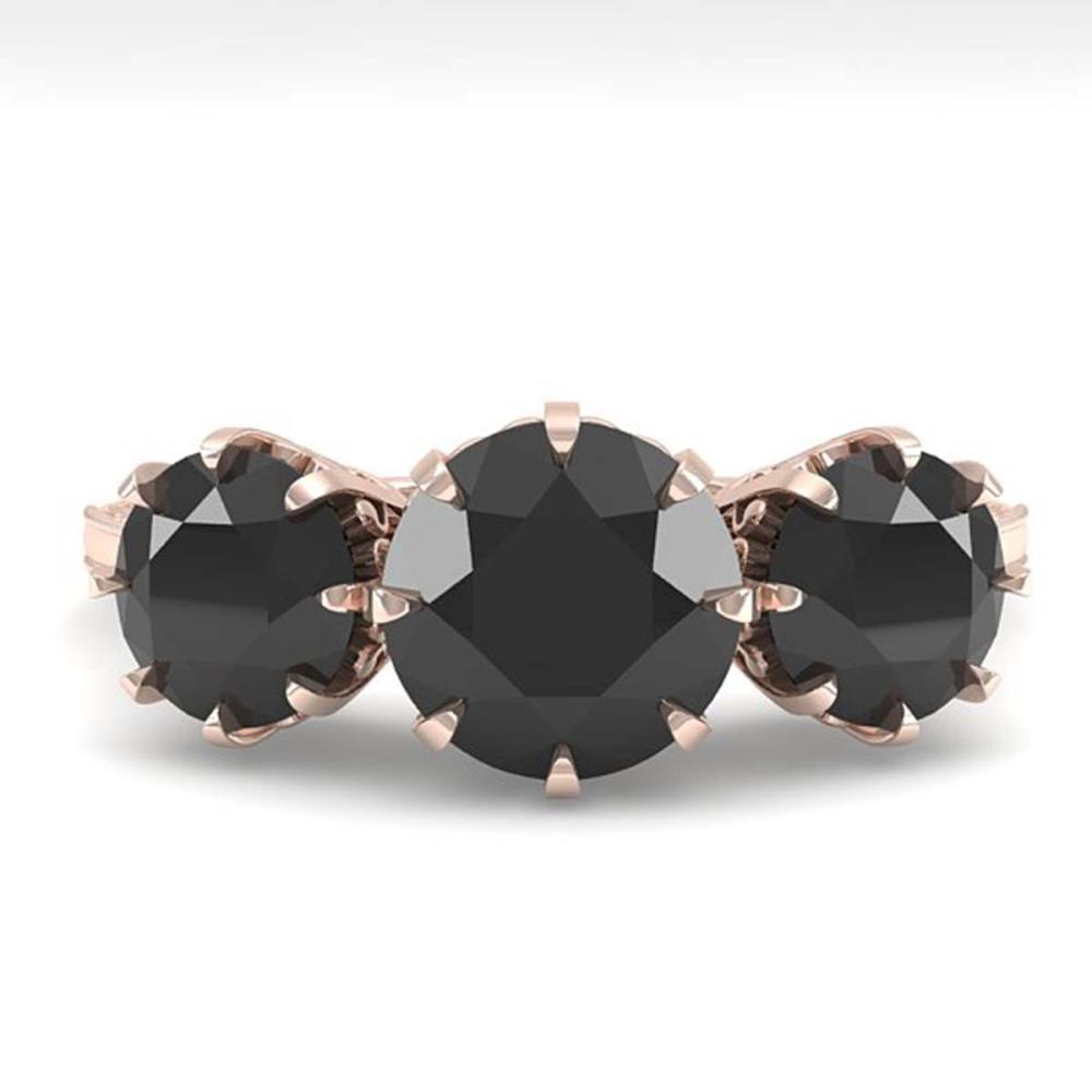 2 ctw Past Present Future Black Diamond Ring 18K Rose Gold - REF-82R6K - SKU:35777