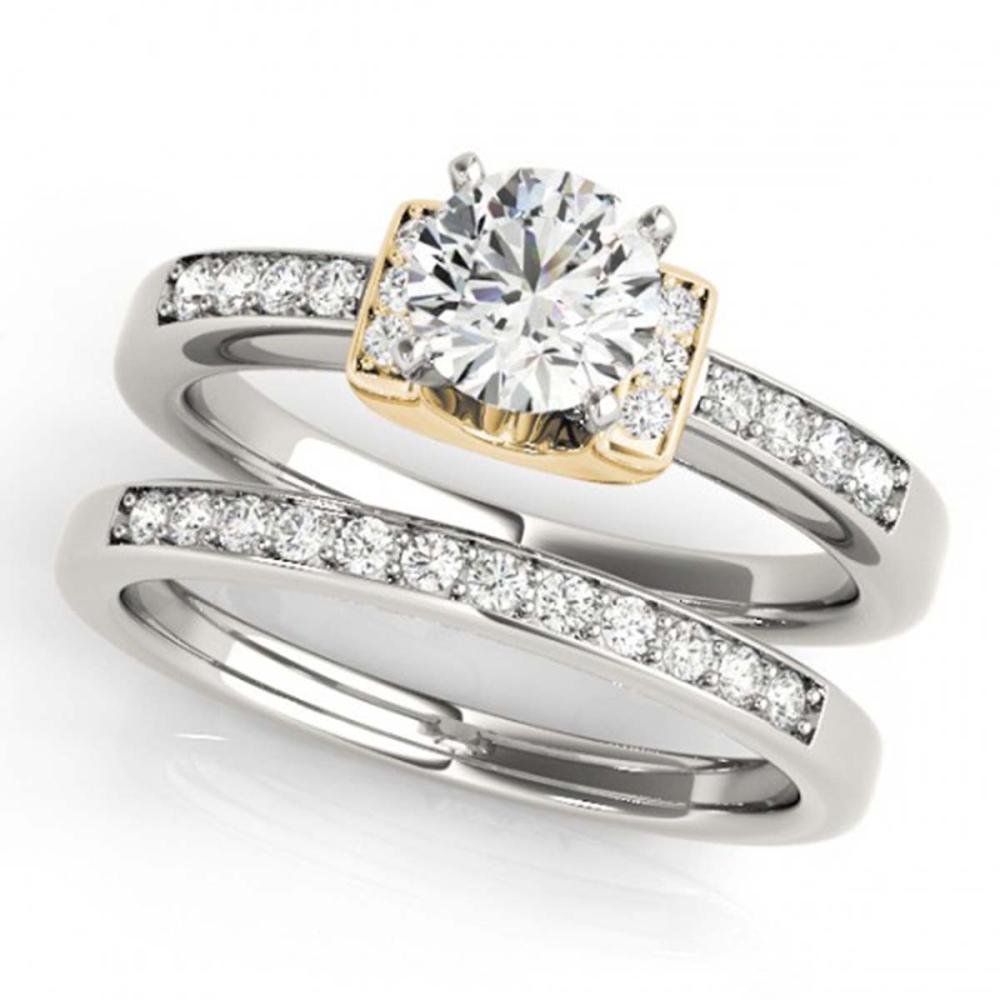 1.01 ctw VS/SI Diamond Solitaire 2pc Set 14K White & Yellow Gold - REF-149R4K - SKU:31592