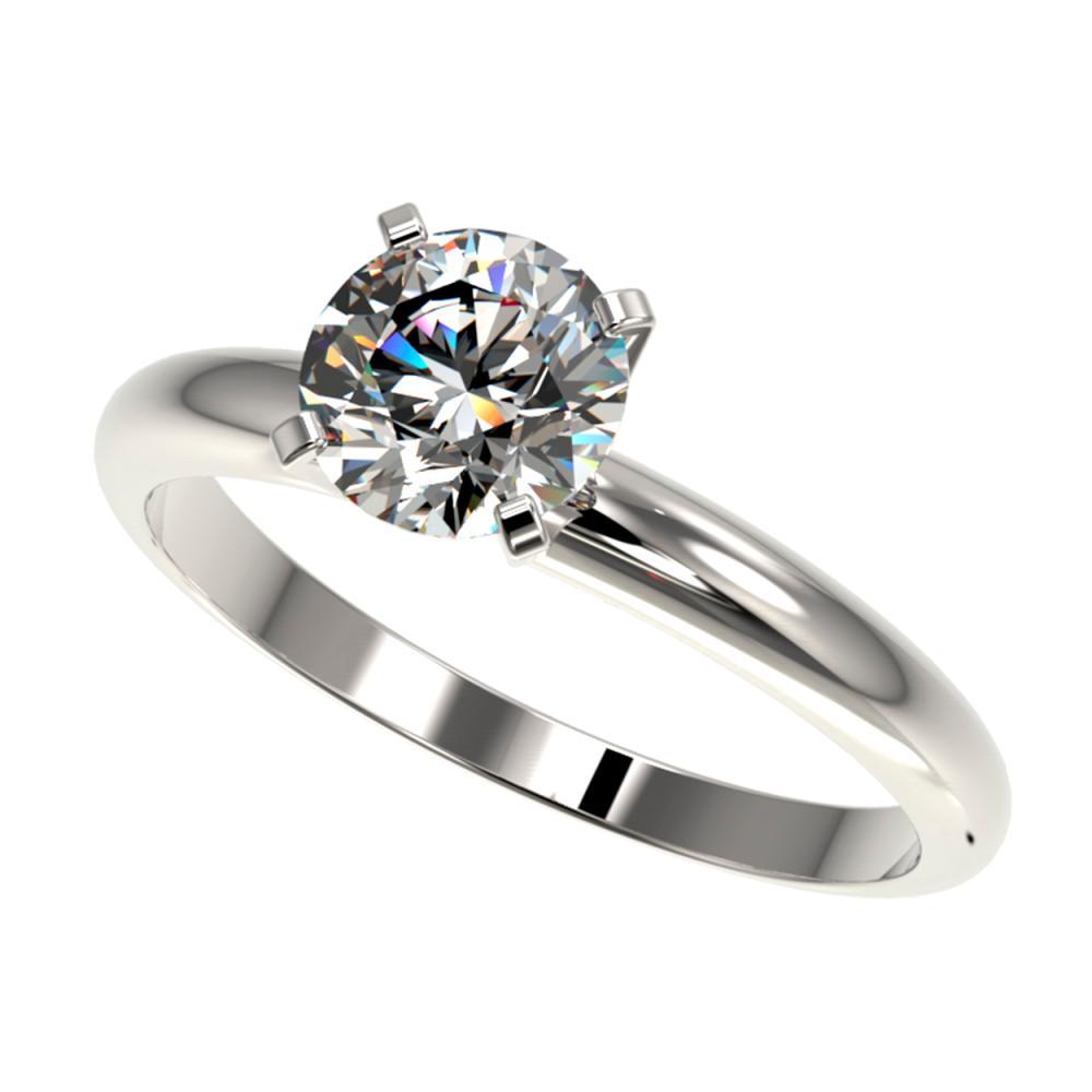 1.26 ctw H-SI/I Diamond Ring 10K White Gold - REF-240K2W - SKU:36420