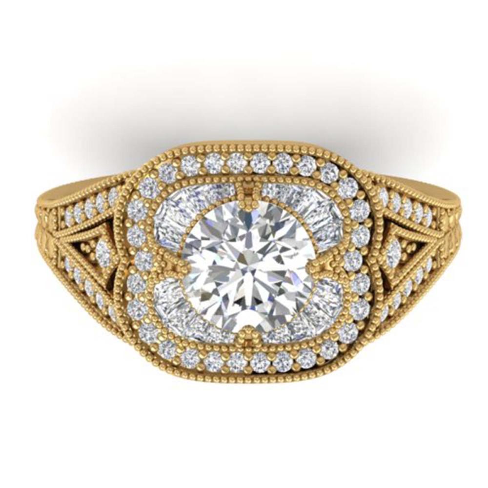 1.95 ctw VS/SI Diamond Art Deco Ring 14K Yellow Gold - REF-368N9A - SKU:30506