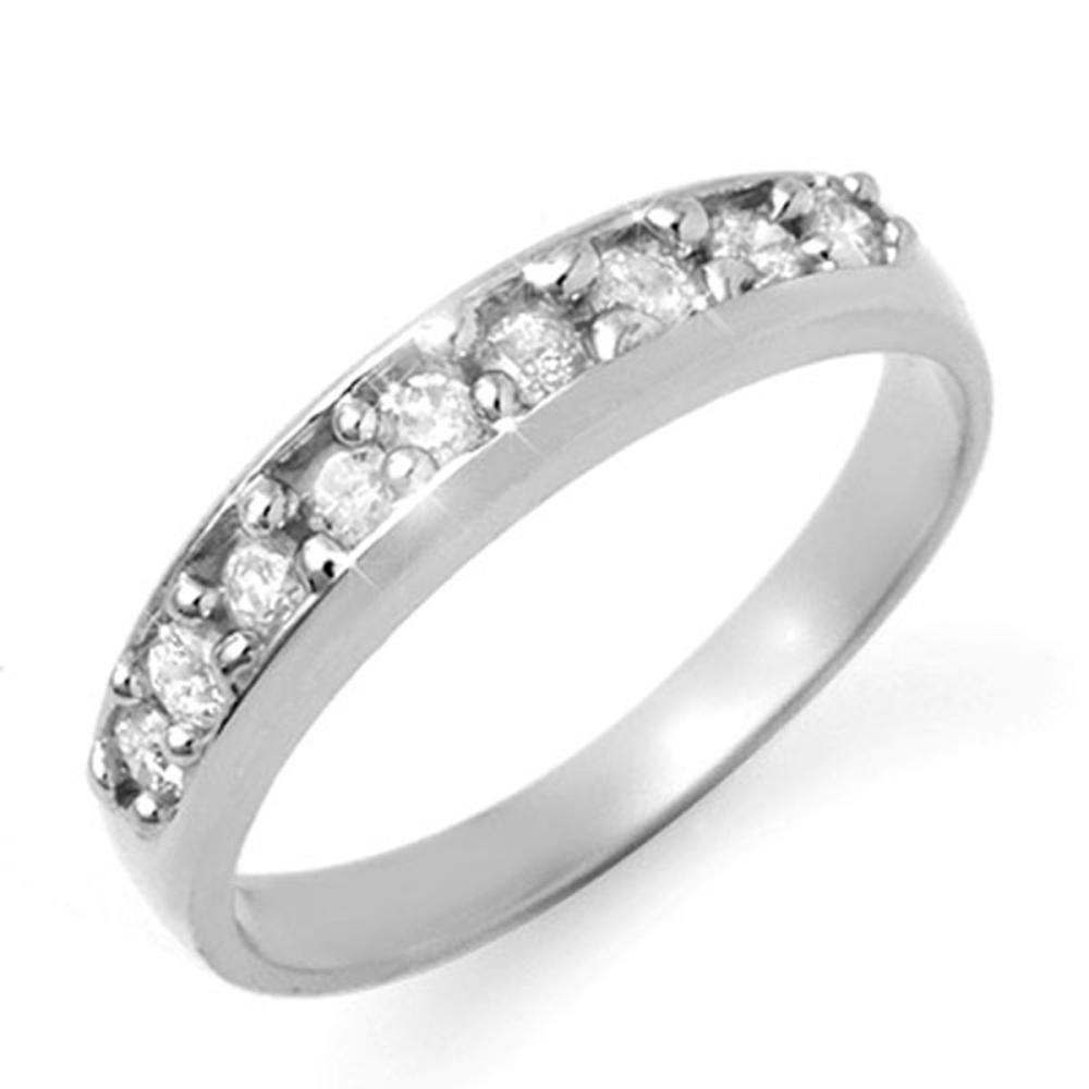 0.50 ctw VS/SI Diamond Ring 14K White Gold - REF-55H5M - SKU:12825