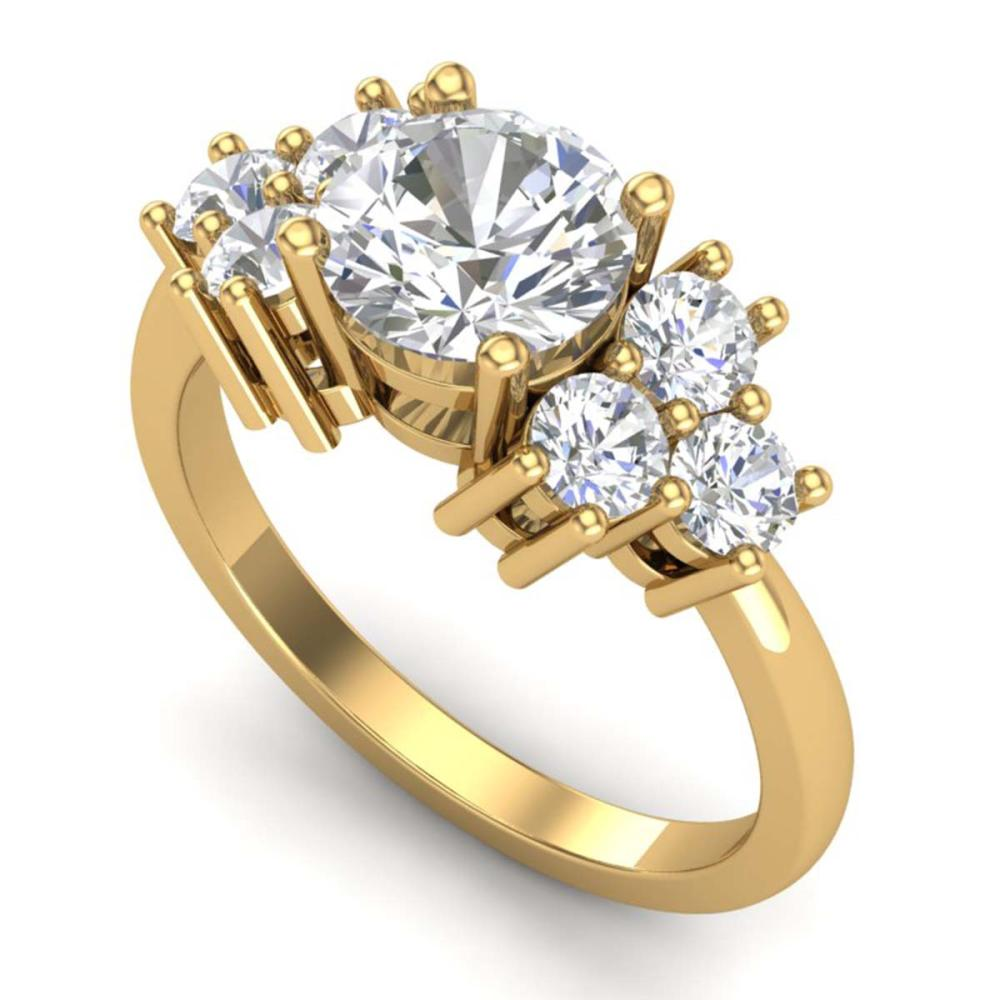 2.1 ctw VS/SI Diamond Solitaire Ring 18K Yellow Gold - REF-563Y6X - SKU:36943