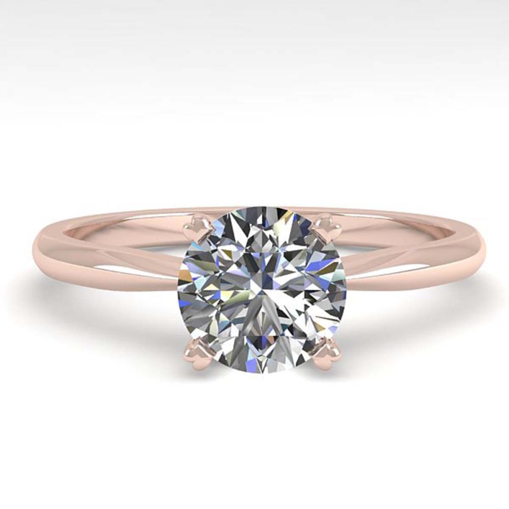 1.0 ctw VS/SI Diamond Ring 18K Rose Gold - REF-289N5A - SKU:32396