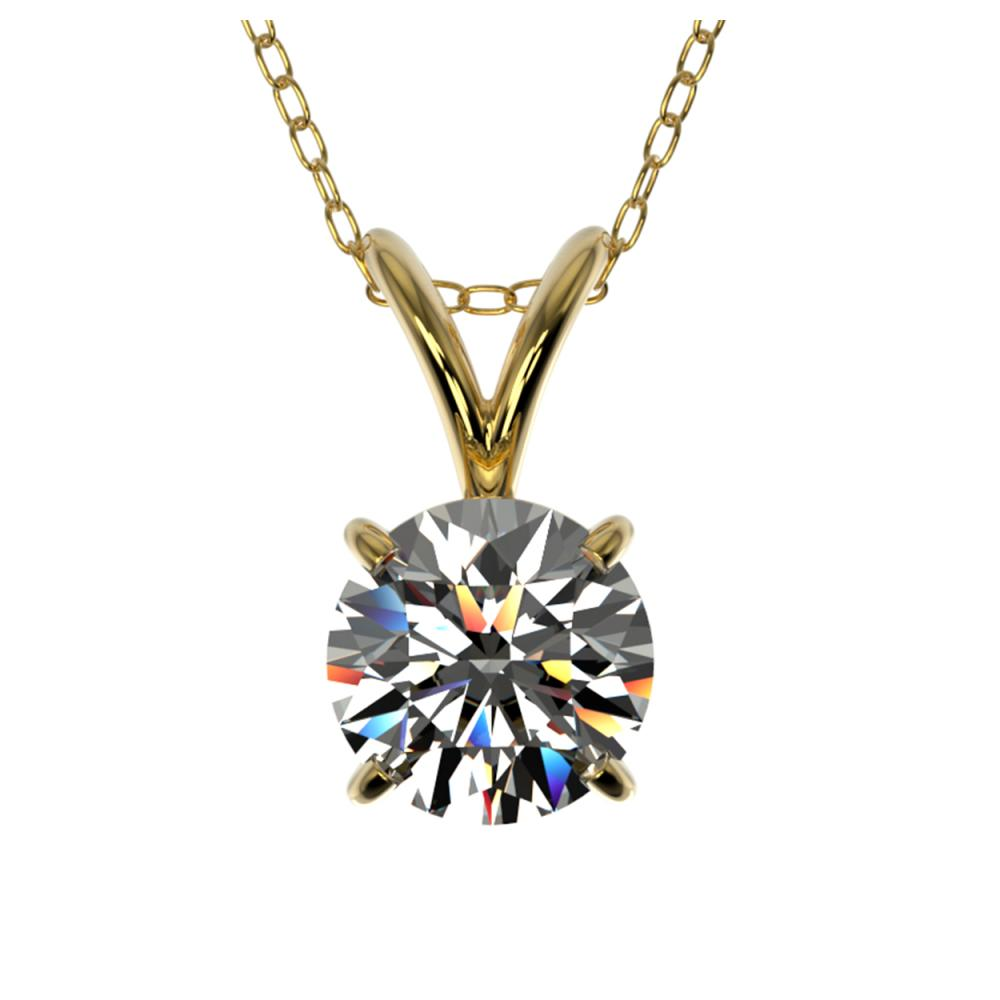 0.75 ctw H-SI/I Diamond Solitaire Necklace 10K Yellow Gold - REF-88M5F - SKU:33174