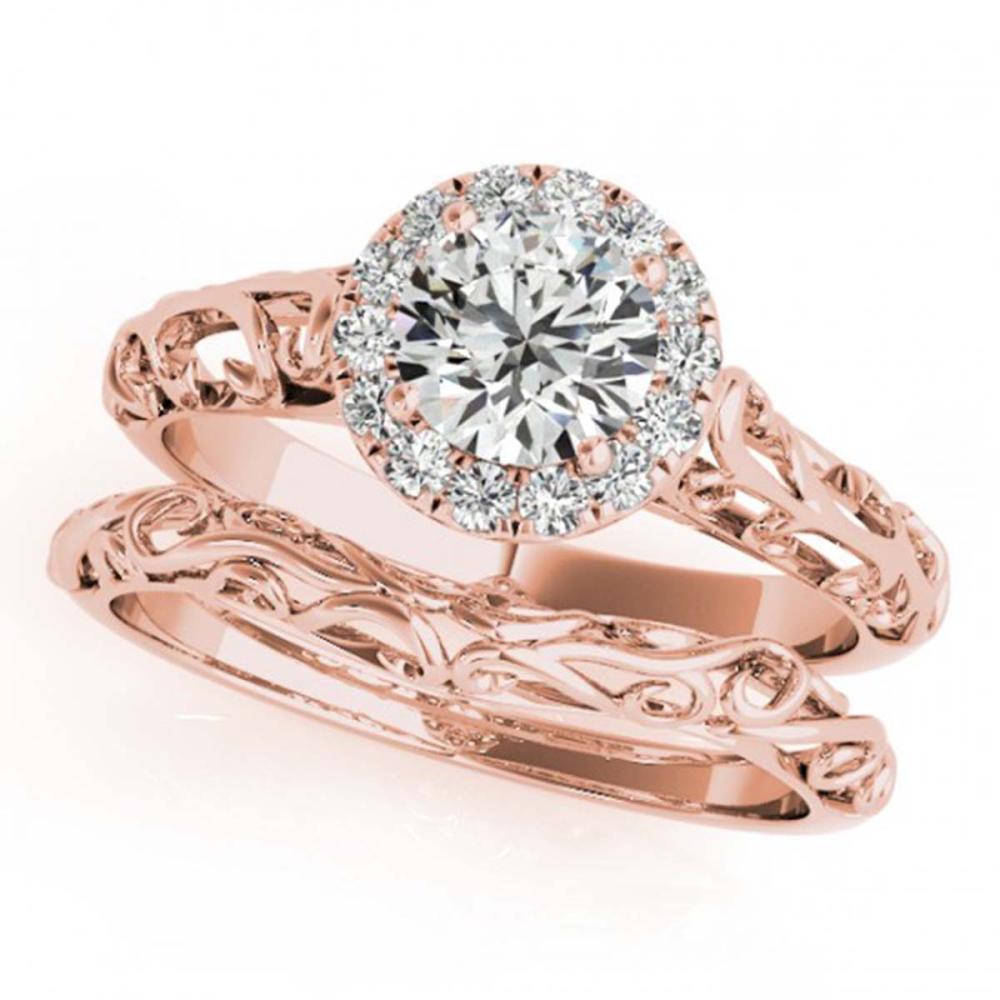 0.62 ctw VS/SI Diamond 2pc Wedding Set 14K Rose Gold - REF-83V2Y - SKU:31488