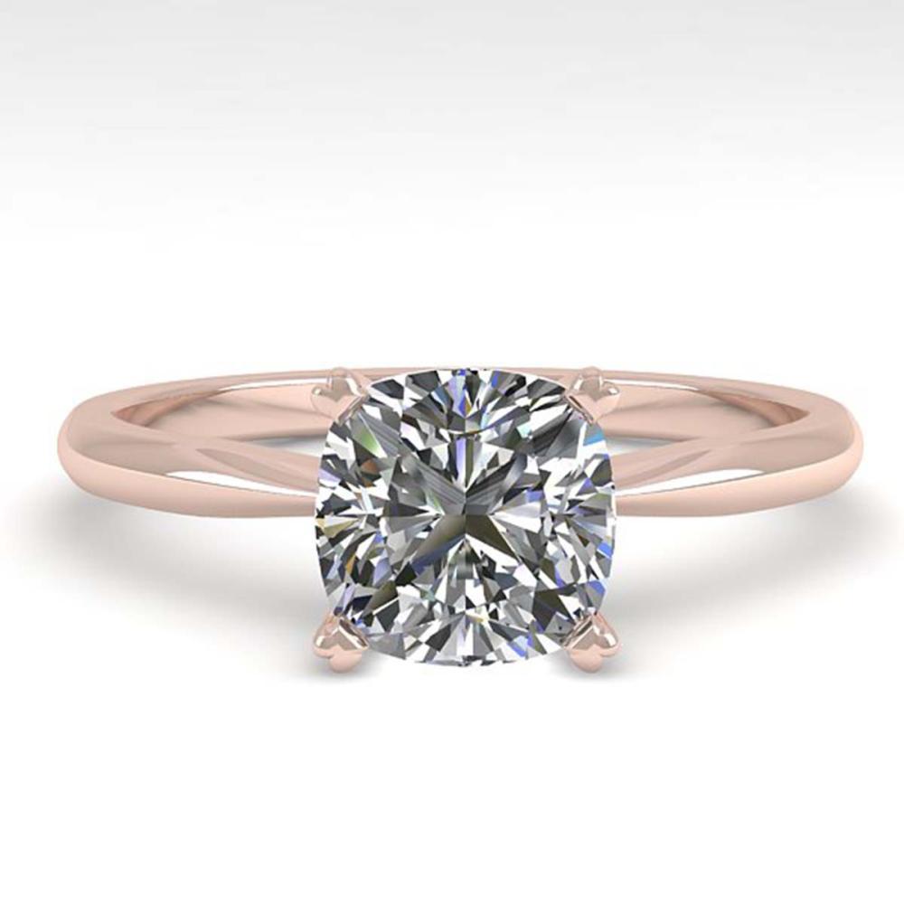 1.01 ctw VS/SI Cushion Diamond Ring 18K Rose Gold - REF-285V2Y - SKU:32426