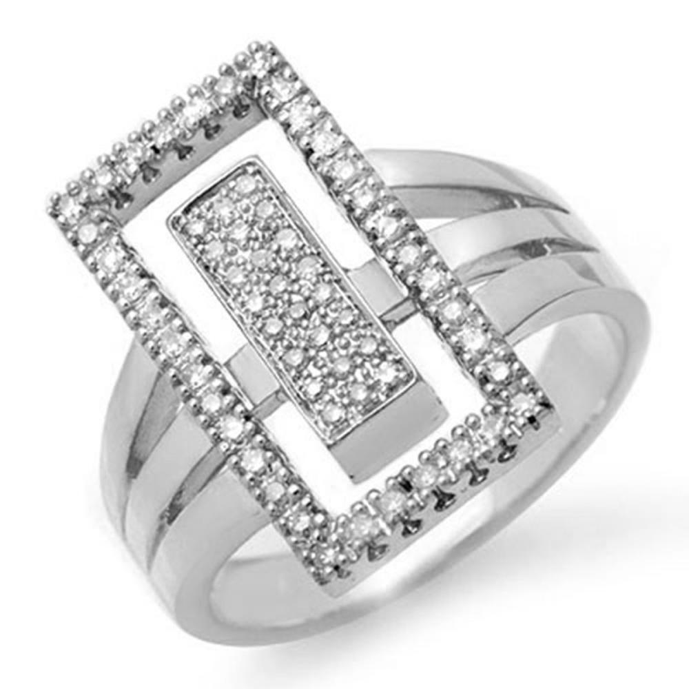 0.45 ctw VS/SI Diamond Ring 14K White Gold - REF-105N3A - SKU:14482