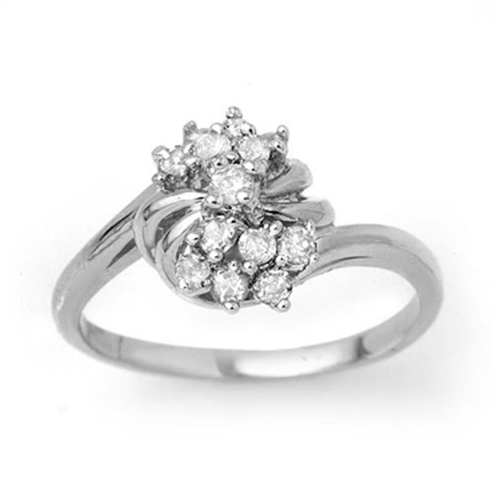 0.25 ctw VS/SI Diamond Ring 18K White Gold - REF-47X3R - SKU:13774