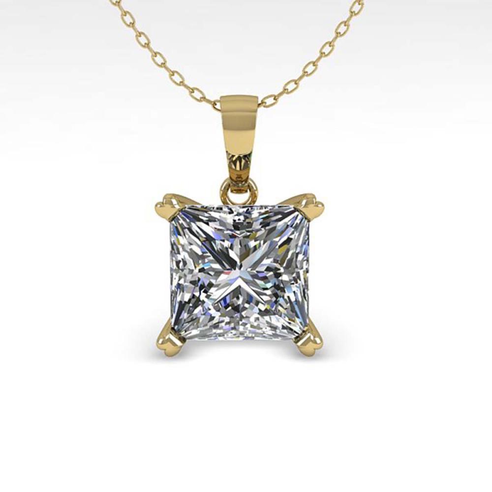 0.50 ctw VS/SI Princess Diamond Necklace 14K Yellow Gold - REF-70Y8X - SKU:38411