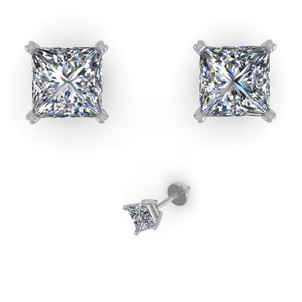 1.05 ctw VS/SI Princess Cut Diamond Earrings 18K Rose Gold - REF-148M5F - SKU:32282