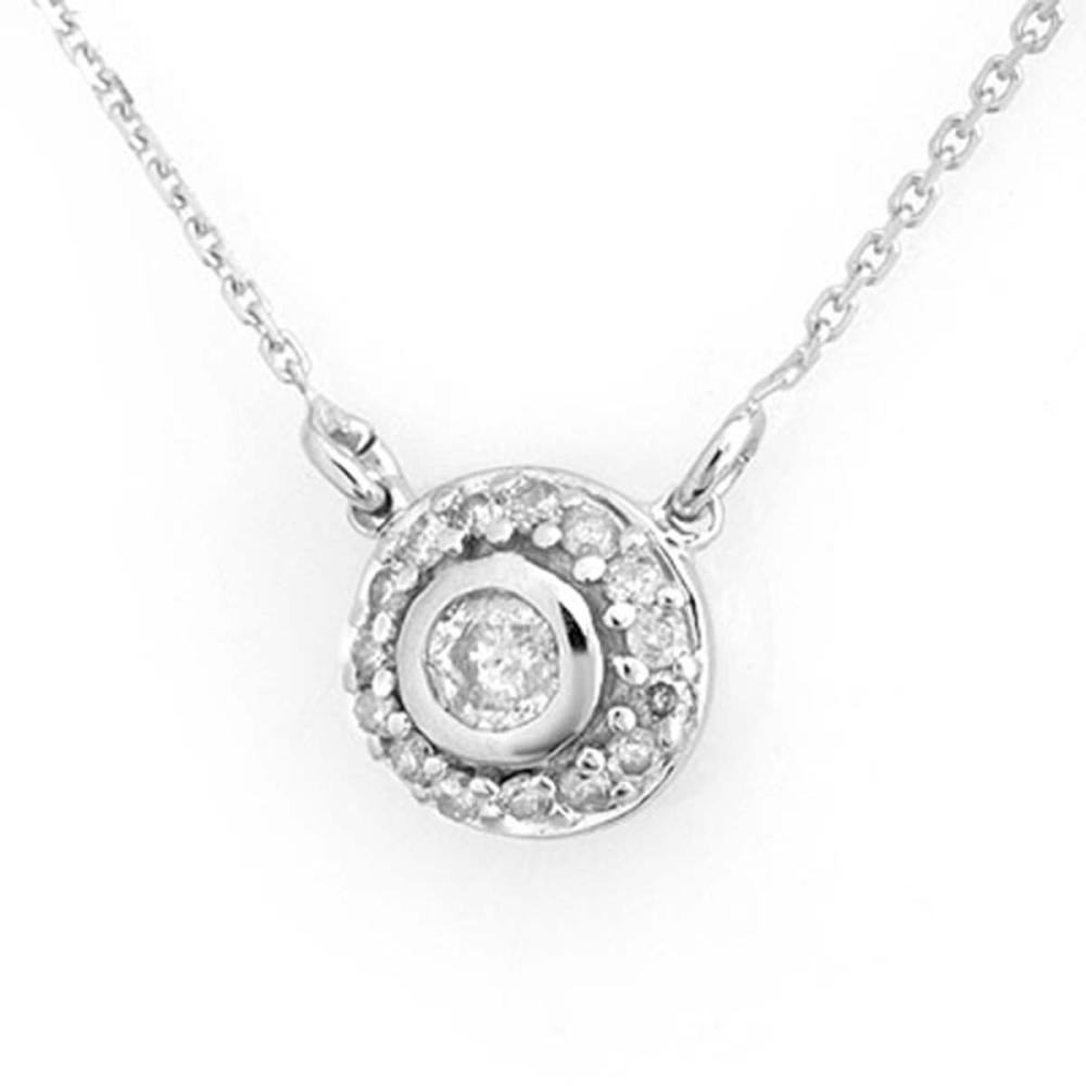 0.45 ctw VS/SI Diamond Necklace 18K White Gold - REF-62X9R - SKU:11462