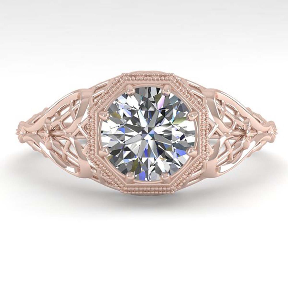 1.01 ctw VS/SI Diamond Ring 18K Rose Gold - REF-301F9N - SKU:36032