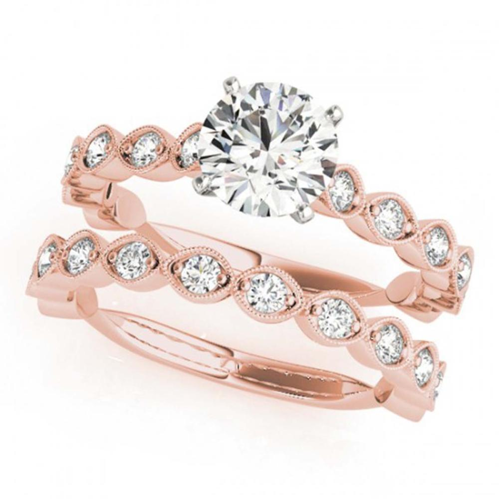 2.27 ctw VS/SI Diamond 2pc Wedding Set 14K Rose Gold - REF-394A3V - SKU:31617