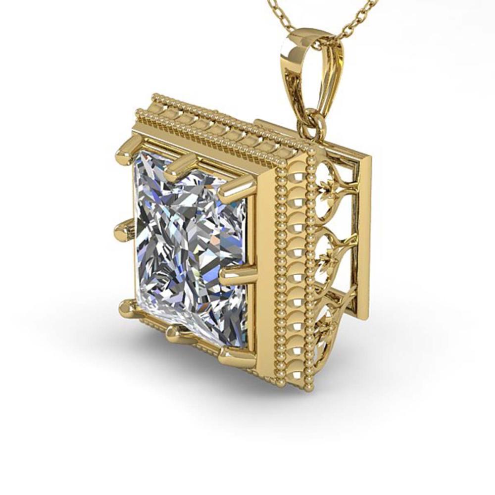 1 ctw VS/SI Princess Diamond Necklace 18K Yellow Gold - REF-332X7R - SKU:36004