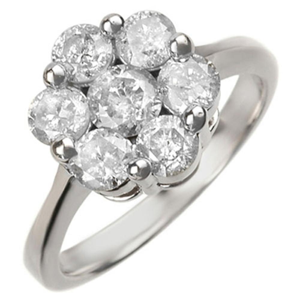 1.50 ctw VS/SI Diamond Ring 14K White Gold - REF-175H5M - SKU:10072