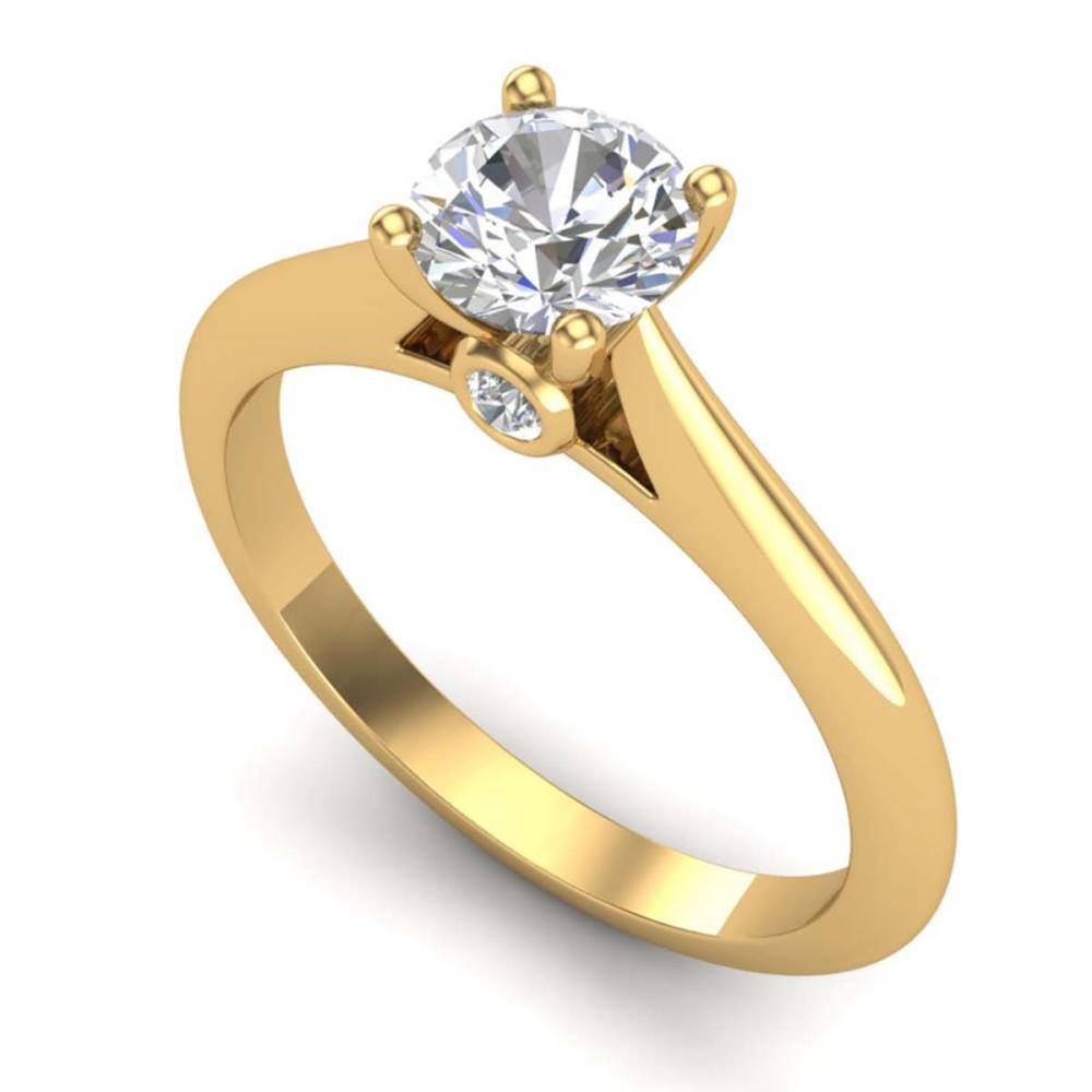 0.83 ctw VS/SI Diamond Solitaire Art Deco Ring 18K Yellow Gold - REF-200N2A - SKU:37285