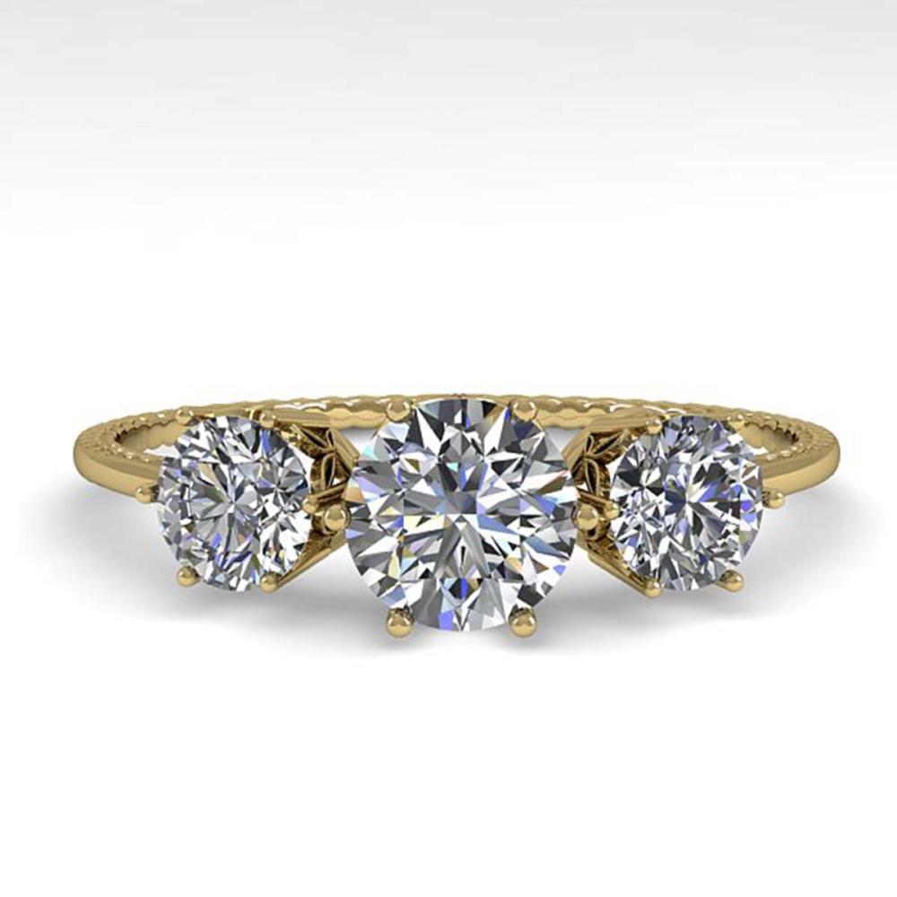 1 ctw Past Present Future VS/SI Diamond Ring 18K Yellow Gold - REF-129X9R - SKU:35905