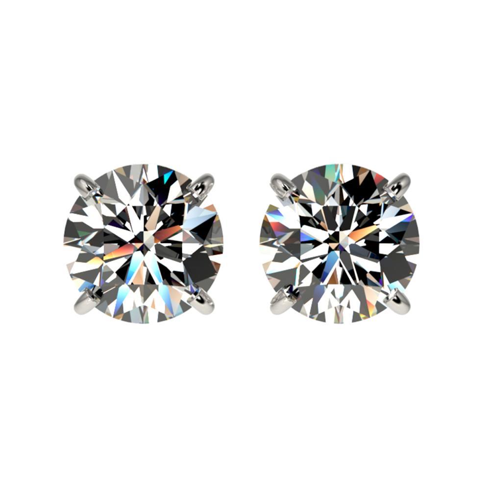 1.59 ctw H-SI/I Diamond Stud Earrings 10K White Gold - REF-183N2A - SKU:36609