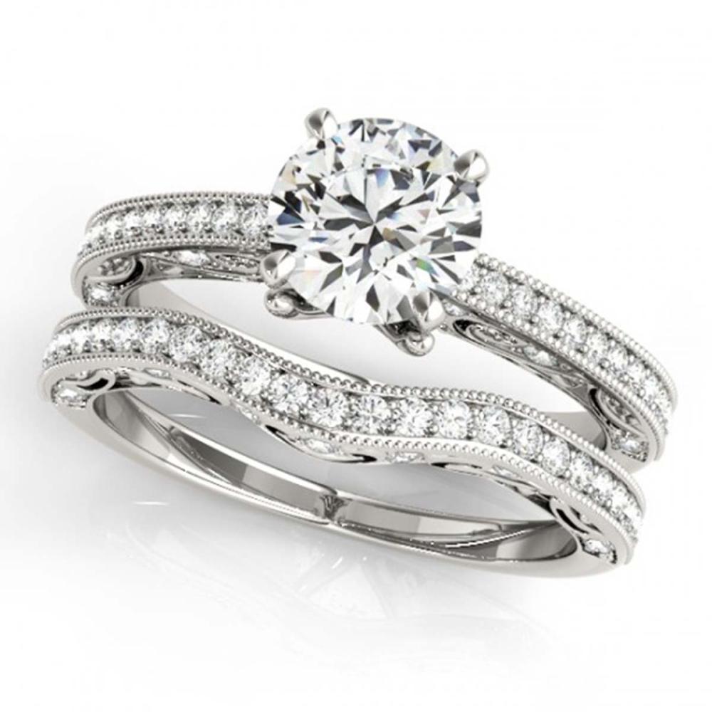 1.52 ctw VS/SI Diamond 2pc Wedding Set 14K White Gold - REF-299H3M - SKU:31526