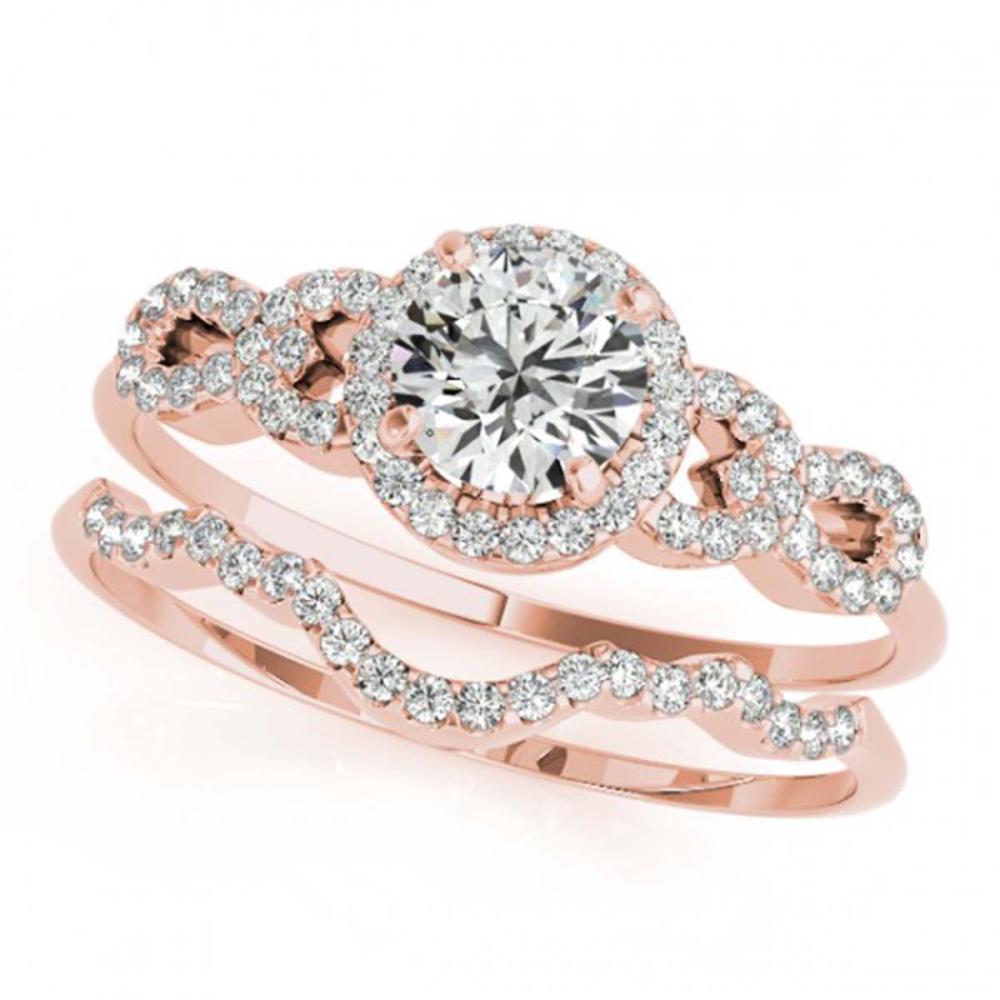 1.18 ctw VS/SI Diamond 2pc Wedding Set 14K Rose Gold - REF-148A4V - SKU:31992