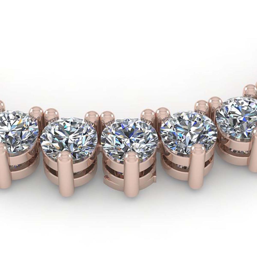 33 ctw 3 Prong SI Diamond Necklace 18K Rose Gold - REF-4745K5W - SKU:36116