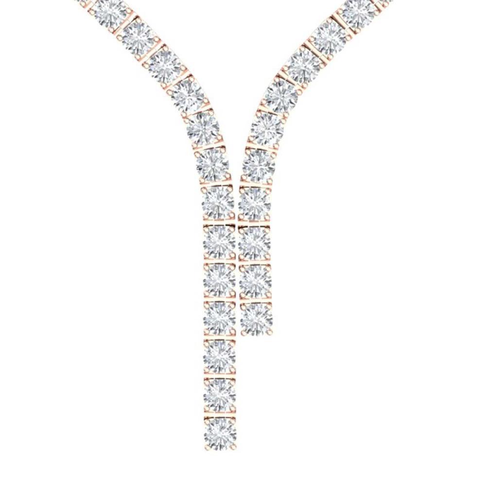 40 ctw SI Diamond Necklace 18K Rose Gold - REF-4350W2H - SKU:39918